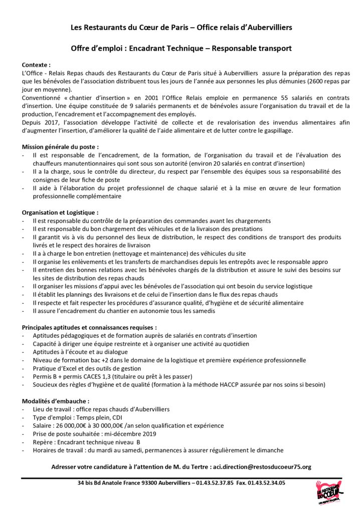 Offre emploi 2019_Resp Transport