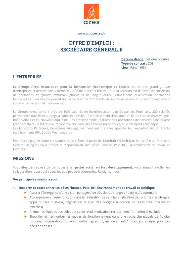 Annonce_Siège_Secrétaire Général.e