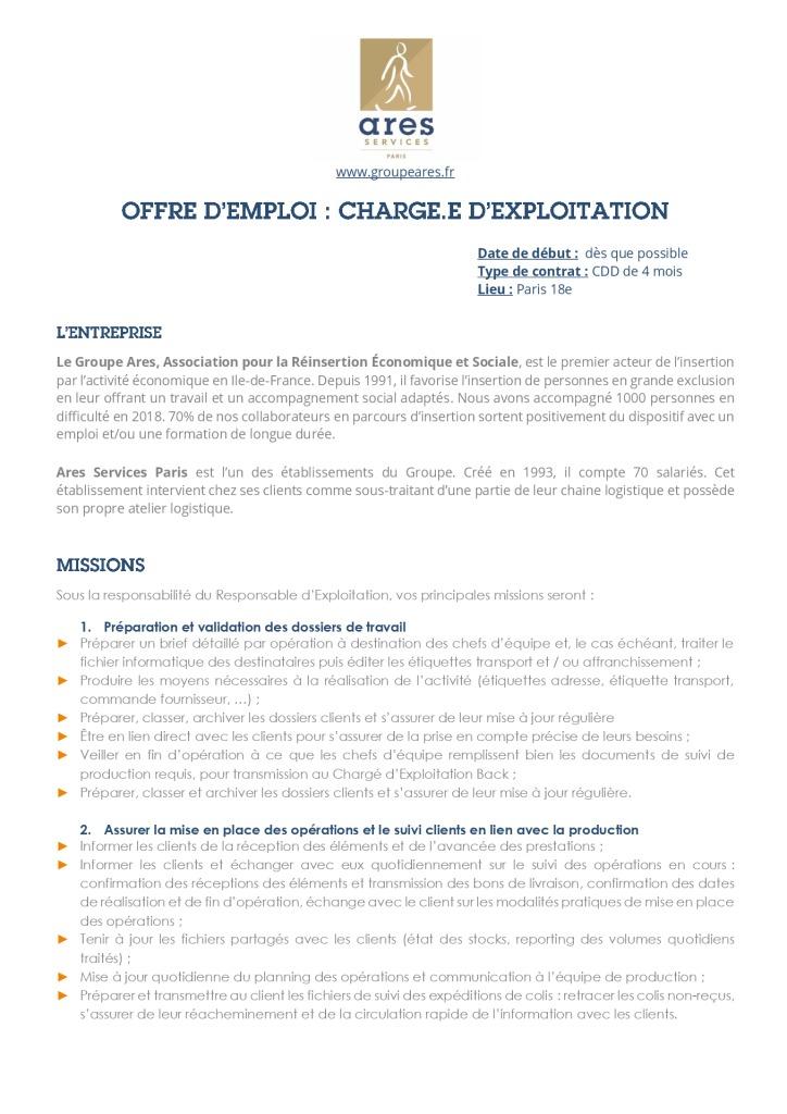 Annonce_AS75_Chargé.e d'exploitation_CDD