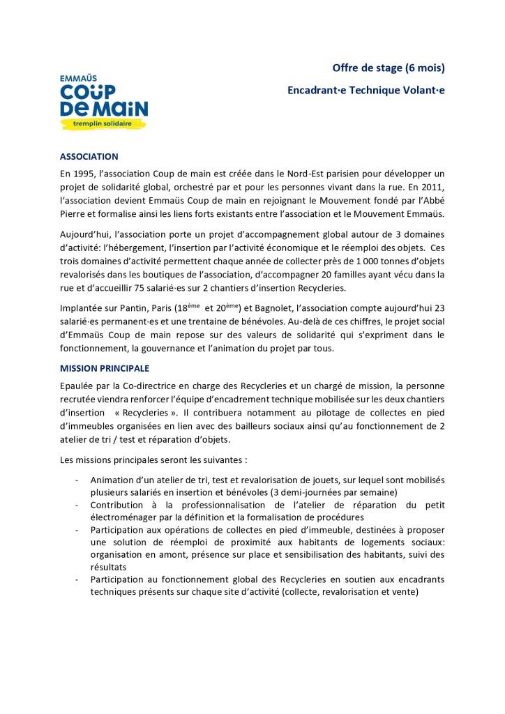 Offre de stage_Encadrant(e) technique ECDM