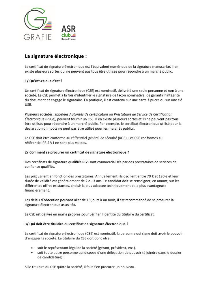 thumbnail of La signature électronique – Grafie-