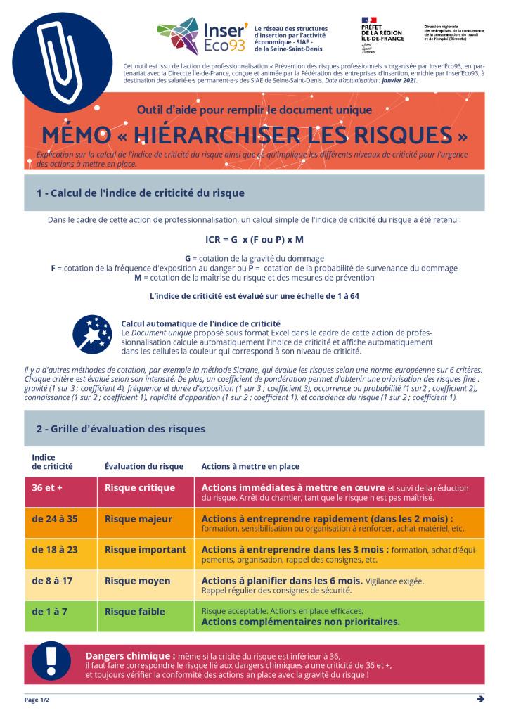 thumbnail of Mémo Inser'Eco93 – Hiérarchiser les risques 20210202
