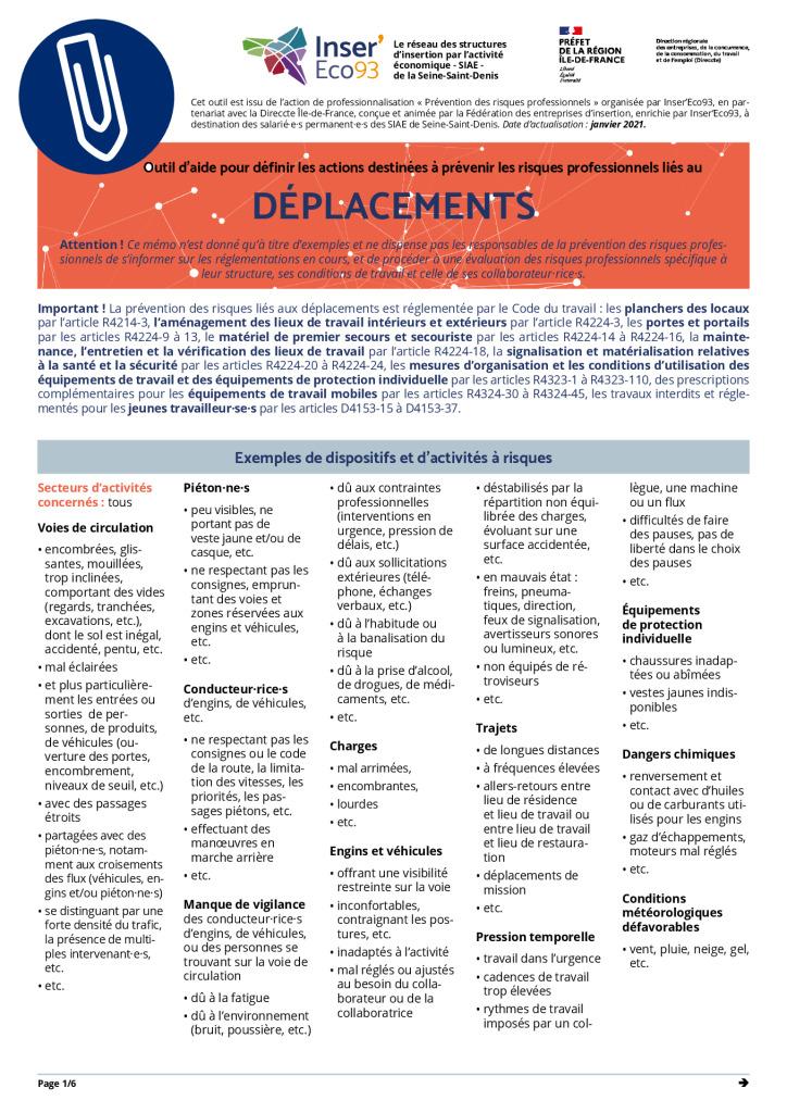 thumbnail of Memos Actions de prévention – Déplacements – 20210202