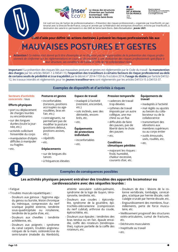 thumbnail of Memos Actions de prévention – Mauvaises postures et gestes – 20210202