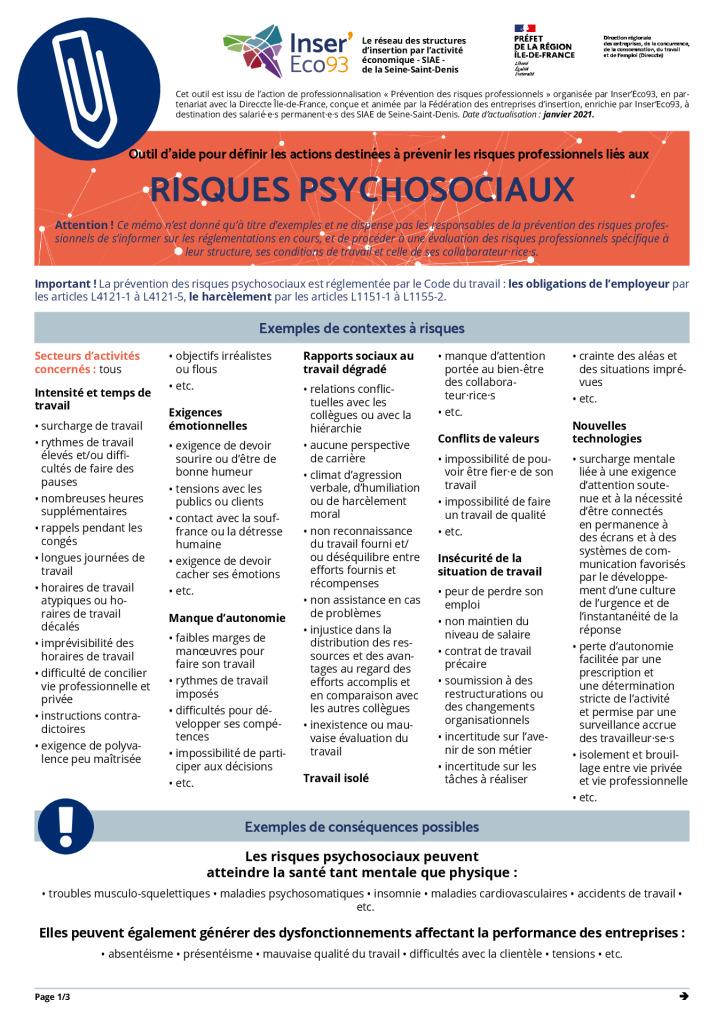 thumbnail of Memos Actions de prévention – Risques psychosociaux – 20210202