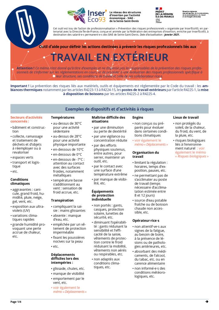 thumbnail of Memos Actions de prévention – Travail en extérieur – 20210202