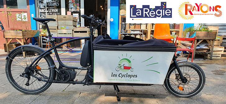 www.lescyclopes.fr: le nouveau site Internet de la livraison à vélo écologique et solidaire en Seine-Saint-Denis et sa proche périphérie, créé par les régies de quartier de Saint-Denis et de Stains